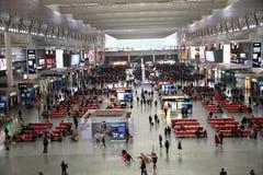 Stazione ferroviaria di Schang-Hai Hongqiao Fotografie Stock