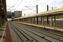 Stazione ferroviaria di Segovia-Guiomar, Spagna fotografie stock libere da diritti