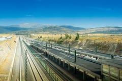Stazione ferroviaria di Segovia-Guiomar in Spagna Immagine Stock