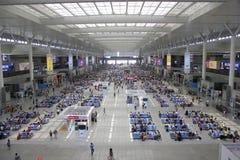 Stazione ferroviaria di Shanghai Hongqiao Fotografie Stock