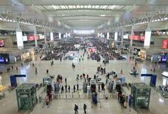 Stazione ferroviaria di Shanghai Hongqiao Fotografia Stock