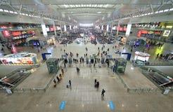 Stazione ferroviaria di Shanghai Hongqiao Fotografie Stock Libere da Diritti