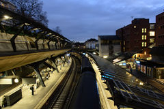 Stazione ferroviaria di Stadelhofen a Zurigo Fotografie Stock Libere da Diritti