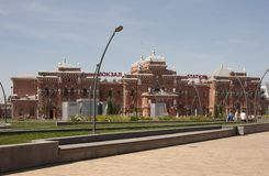 Stazione ferroviaria di vista nella città di Kazan La Russia Fotografia Stock