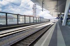 Stazione ferroviaria di Wien Immagini Stock Libere da Diritti
