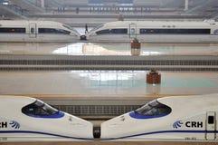 Stazione ferroviaria di Wuhan Fotografia Stock