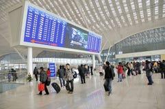 Stazione ferroviaria di Wuhan Immagine Stock