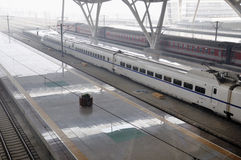 Stazione ferroviaria di Wuhan Fotografie Stock