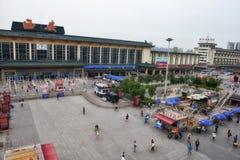 Stazione ferroviaria di Xi'an Fotografie Stock Libere da Diritti