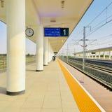 Stazione ferroviaria di Xinji, provincia di Hebei immagine stock