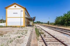 Stazione ferroviaria disattivata di Crato Immagine Stock