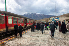 Stazione ferroviaria in Dorud Immagini Stock Libere da Diritti