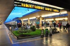 Stazione ferroviaria a Firenze fotografia stock libera da diritti