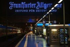 Stazione ferroviaria Francoforte Immagine Stock Libera da Diritti