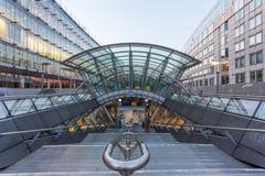 Stazione ferroviaria Gare Bruxelles-Lussemburgo a Bruxelles Fotografie Stock Libere da Diritti