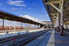 Stazione ferroviaria giapponese vuota Immagini Stock Libere da Diritti