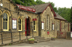 Stazione ferroviaria in Haworth, Regno Unito Fotografia Stock
