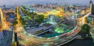 Stazione ferroviaria Hua Lamphong a Bangkok, Tailandia Fotografia Stock Libera da Diritti