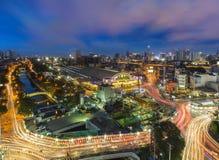 Stazione ferroviaria Hualanpong di Bangkok Fotografia Stock Libera da Diritti