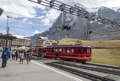 Stazione ferroviaria Interlaken Immagini Stock Libere da Diritti