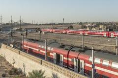 Stazione ferroviaria in Israel Beer Sheva fotografia stock