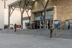 Stazione ferroviaria in Israel Beer Sheva fotografie stock libere da diritti