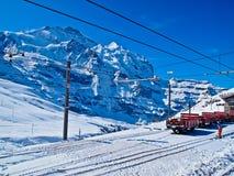 Stazione ferroviaria a Jungfraujoch, Svizzera fotografia stock libera da diritti