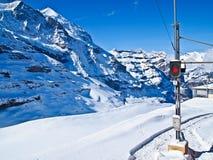 Stazione ferroviaria a Jungfraujoch, Svizzera fotografie stock