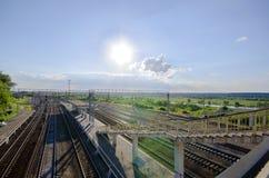 Stazione ferroviaria in Kashira Fotografia Stock Libera da Diritti