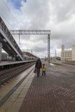 Stazione ferroviaria a Kazan, Federazione Russa fotografia stock libera da diritti