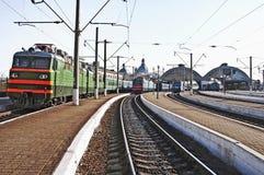 Stazione ferroviaria in L'vov Fotografia Stock