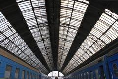 Stazione ferroviaria a Leopoli Fotografia Stock Libera da Diritti