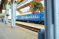 Stazione ferroviaria. Leopoli, Ucraina Fotografia Stock Libera da Diritti