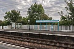 Stazione ferroviaria a LLanfairpg Immagine Stock Libera da Diritti