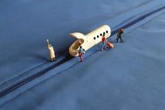 Stazione ferroviaria miniatura Immagini Stock