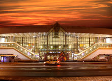 Stazione ferroviaria a Minsk (Bielorussia) Fotografia Stock