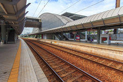Stazione ferroviaria moderna. Fotografie Stock Libere da Diritti