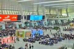 Stazione ferroviaria moderna della Cina Fotografia Stock