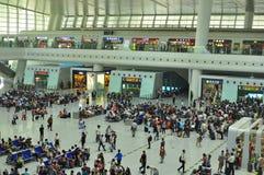 Stazione ferroviaria moderna della Cina Fotografia Stock Libera da Diritti