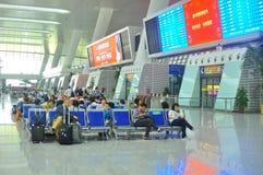 Stazione ferroviaria moderna della Cina Fotografie Stock Libere da Diritti