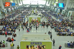 Stazione ferroviaria moderna della Cina Immagini Stock Libere da Diritti