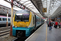 Stazione ferroviaria multipla diesel di Coradia Crewe Immagine Stock Libera da Diritti