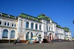 Stazione ferroviaria nella città di Chabarovsk, Russia Fotografia Stock Libera da Diritti