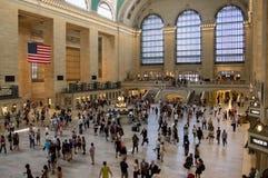Stazione ferroviaria occupata Fotografia Stock