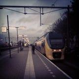 Stazione ferroviaria olandese Immagini Stock Libere da Diritti