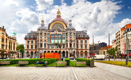 Stazione ferroviaria principale di Anversa. Immagini Stock