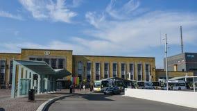 Stazione ferroviaria principale di Bruges, Belgio fotografia stock libera da diritti