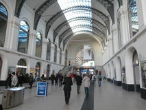 Stazione ferroviaria principale di Dresda, Germania Immagini Stock Libere da Diritti