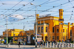 Stazione ferroviaria principale di Wroclaw Immagini Stock