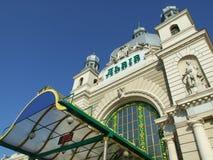Stazione ferroviaria principale a Leopoli fotografie stock libere da diritti